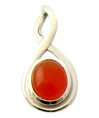 Design 21133: orange carnelian pendants