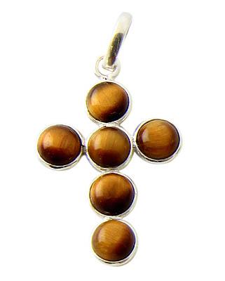 Design 21135:  tiger eye pendants