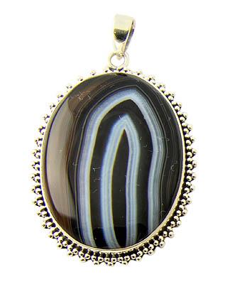 Design 21136: black onyx pendants