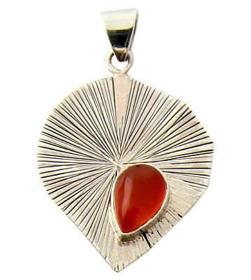 Design 21141: orange carnelian pendants