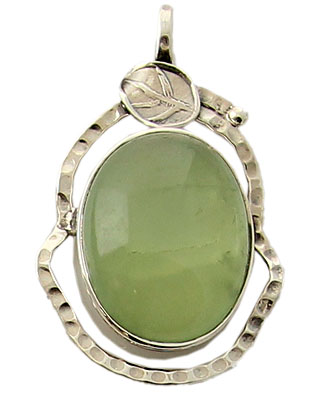 Design 21144: green prehnite pendants