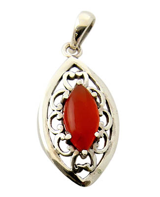 Design 21148: orange carnelian pendants
