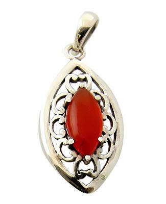 Design 21148: orange carnelian pendants