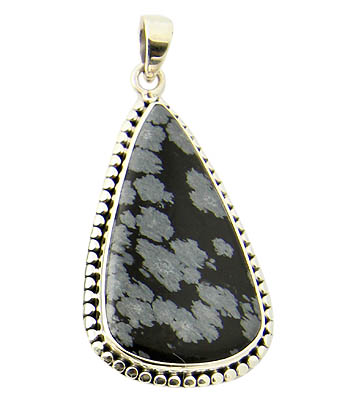 Design 21154: black obsidian pendants