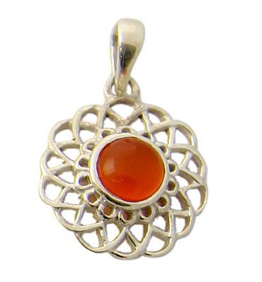 Design 21158: orange carnelian pendants