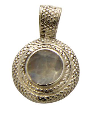Design 21159: white moonstone pendants