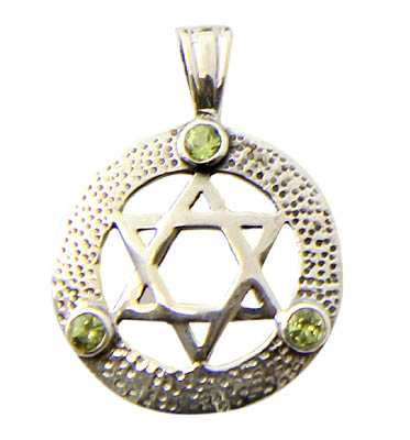 Design 21165: green peridot pendants