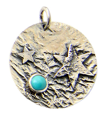 Design 21183: blue turquoise pendants
