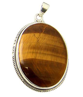 Design 21185:  tiger eye pendants