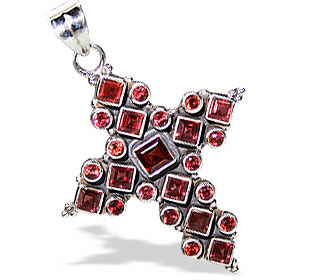 Design 3007: red garnet christian pendants