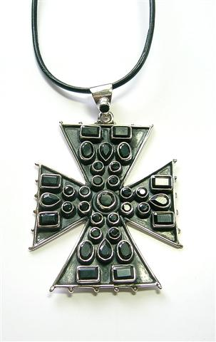 Design 3076: black onyx christian pendants