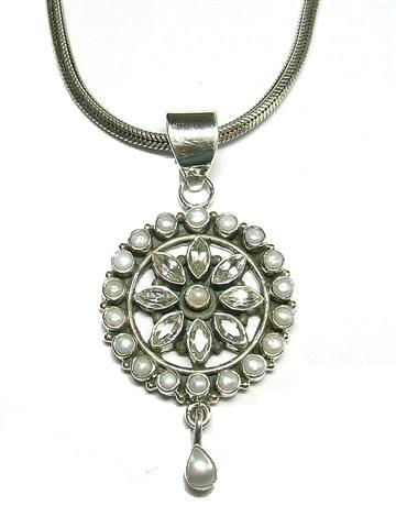 Design 3099: white white topaz pendants