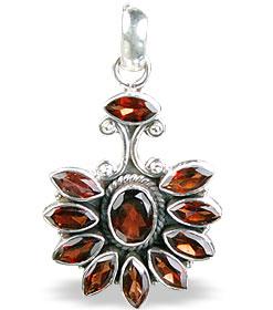 Design 3109: red garnet pendants