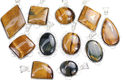 Design 3145: brown tiger eye pendants