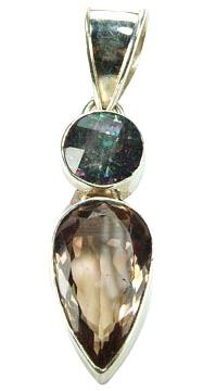 Design 5055: grey,brown mystic quartz pendants