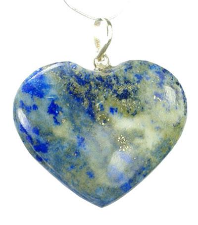 Design 5073: blue,green lapis lazuli heart pendants