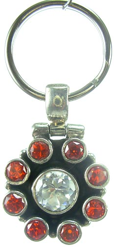 Design 5172: Red/Clear garnet pets pendants