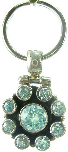 Design 5175: Aqua/ Blue  blue topaz pets pendants