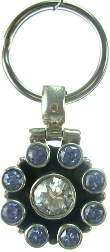 Design 5176: Blue/ Clear iolite pets pendants