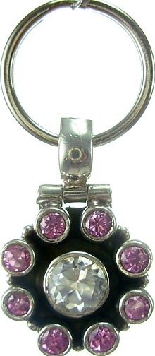 Design 5178: Pink/ Clear cubic zirconia pets pendants