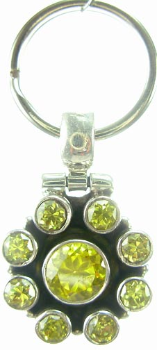 Design 5181: green cubic zirconia pets pendants