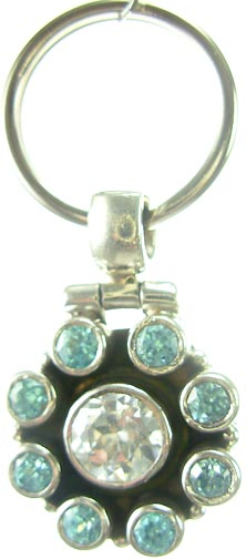 Design 5183: Clear/ Blue blue topaz pets pendants