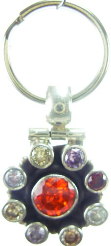 Design 5188: Red/ Multi cubic zirconia pets pendants