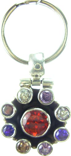 Design 5190: Red/ Multi garnet pets pendants