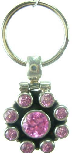 Design 5193: Pink cubic zirconia pets pendants