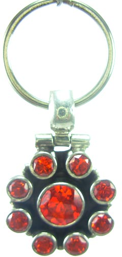Design 5195: Red  cubic zirconia pets pendants