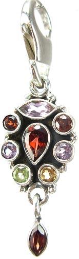 Design 5251: Multi amethyst zipper-pull pendants