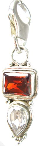Design 5256: Red garnet zipper-pull pendants