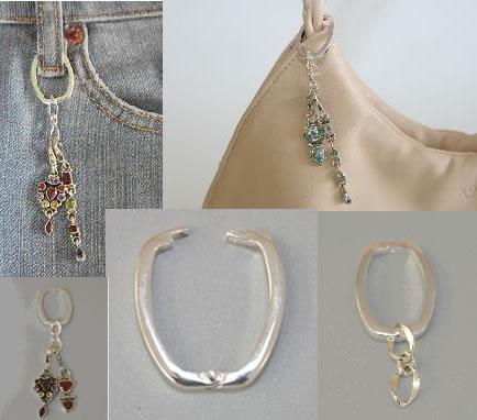 Design 5364: gray silver charms pendants