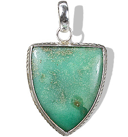 Design 5473: green chrysoprase art-deco pendants