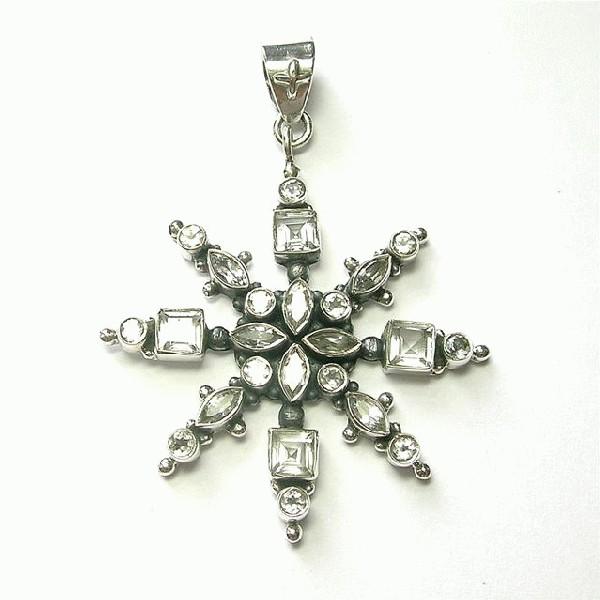Design 5596: white white topaz pendants