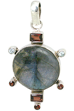 Design 5649: gray,red labradorite pendants