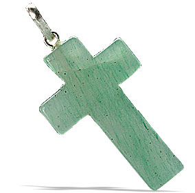 Design 6342: green aventurine christian pendants