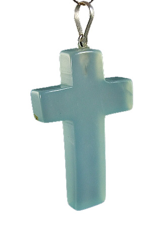Design 6344: blue,green chalcedony christian, cross, religious pendants