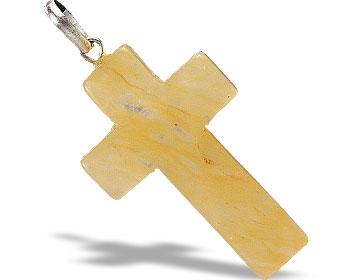 Design 6347: yellow aventurine cross pendants