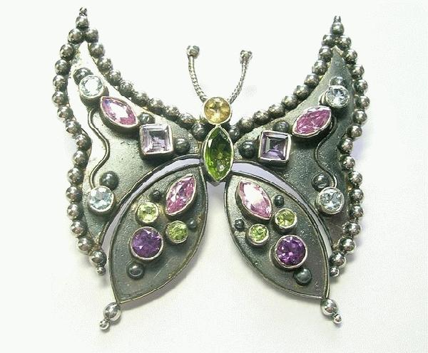 Design 6387: multi-color multi-stone gothic-medieval pendants