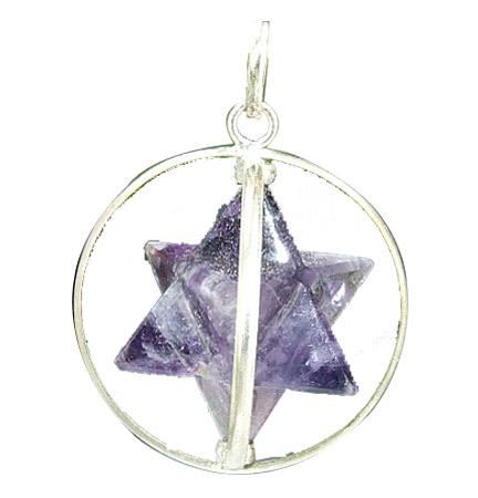 Design 6403: purple amethyst star pendants