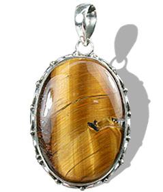 Design 668: brown tiger eye pendants