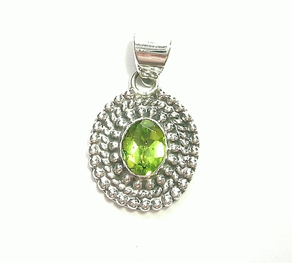 Design 6912: green peridot pendants