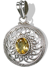 Design 6981: yellow citrine engagement, estate pendants