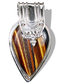 Design 6985: brown tiger eye drop pendants