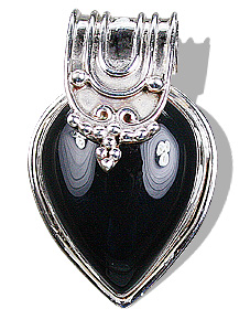 Design 6988: black onyx drop, gothic-medieval pendants