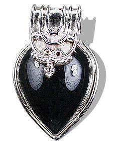 Design 6988: black onyx drop, gothic-medieval pendants