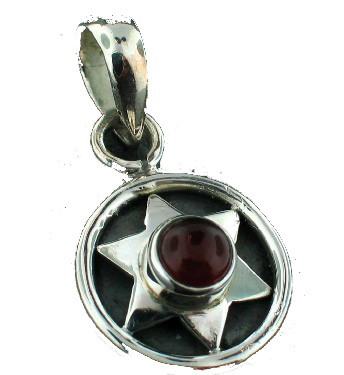 Design 6991: red garnet mini pendants