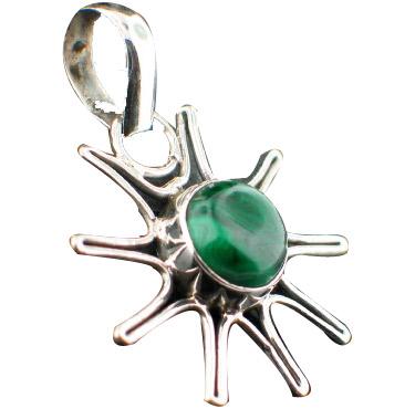 Design 6999: green malachite mens pendants