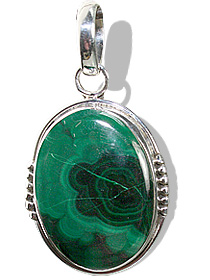 Design 7001: green malachite pendants
